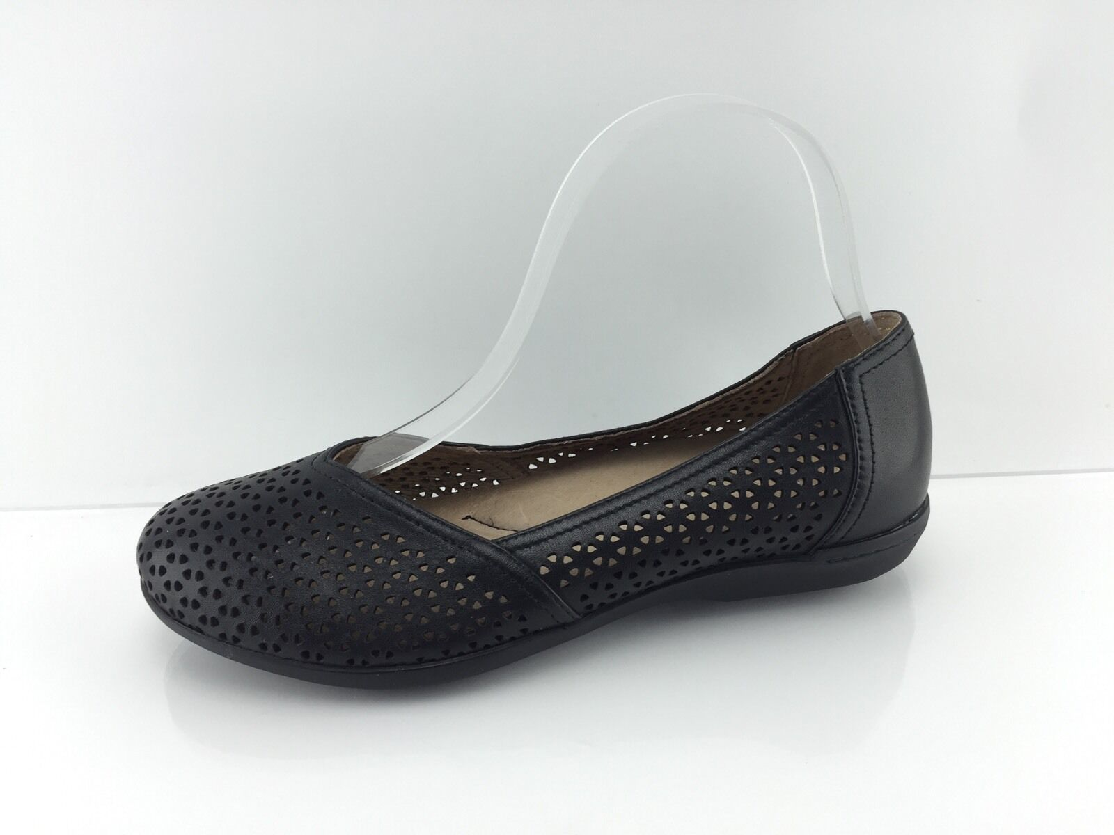144.95 Dansko Women's Black Leather Flats 36