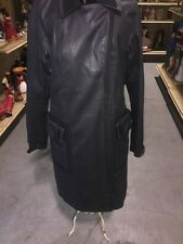 Jil Sander Black Button and Snap Front Close Coat Size 34