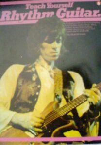 """""""teach Yourself Rhythm Guitar"""" Music Book-music Sales-neuf En Promotion-rare!!!-afficher Le Titre D'origine"""