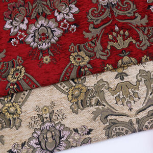 Red-European-Chenille-Pillow-Cushion-Upholstery-Material-Jacquard-Sofa-Fabric