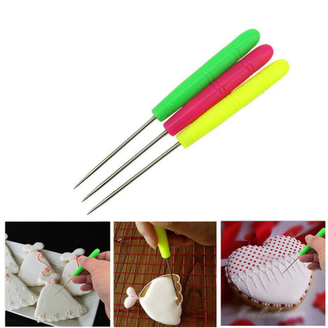 1pc Scriber Needle Modelling Tool Icing Cake Carve Decoration Fondant Crafts Pip