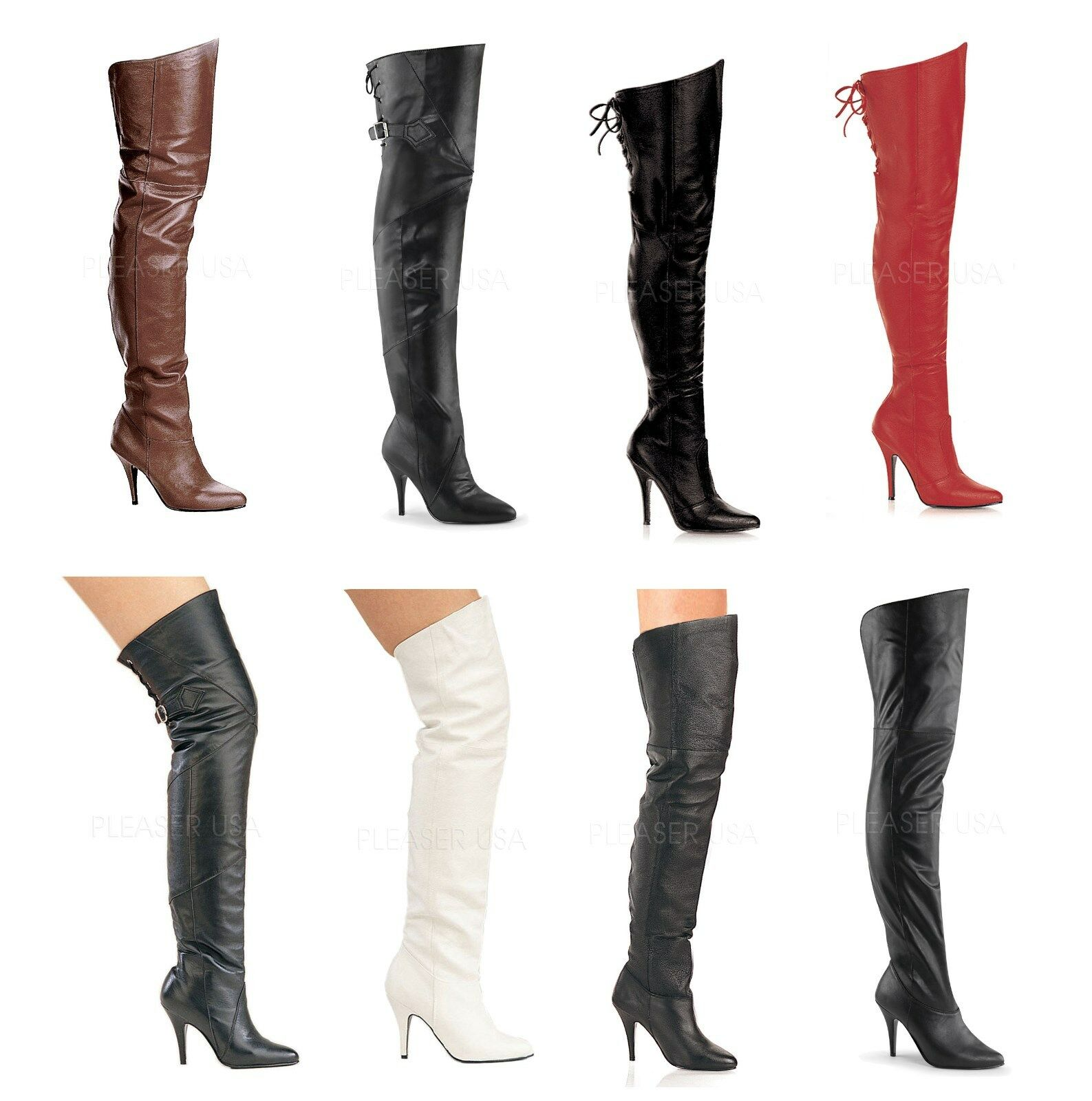 Pleaser LEGEND-8868 8890 8899 Sexy Leder Thigh High boots Größe 6-16