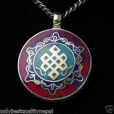 Amulett Saraswati Symbol Schmuck Buddha Indien Gedanken Knoten Talisman a71