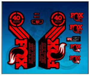 PEGATINAS-STICKER-FORK-FOX-40-ELITE-SERIES-AM68-AUFKLEBER-DECALS-ADESIVI