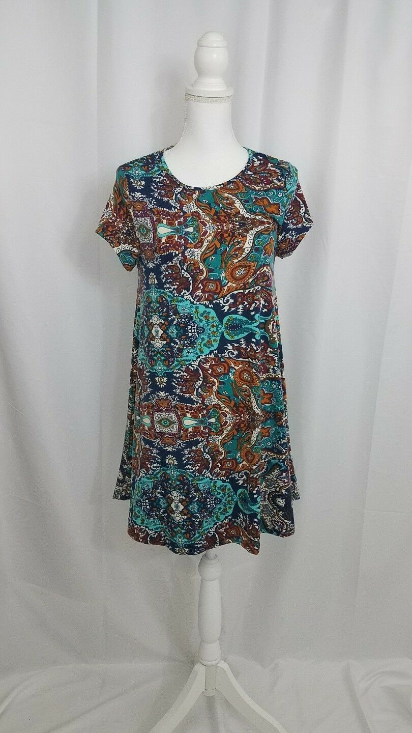 Glamgoldus Swing Short Sleeve Dress Small New
