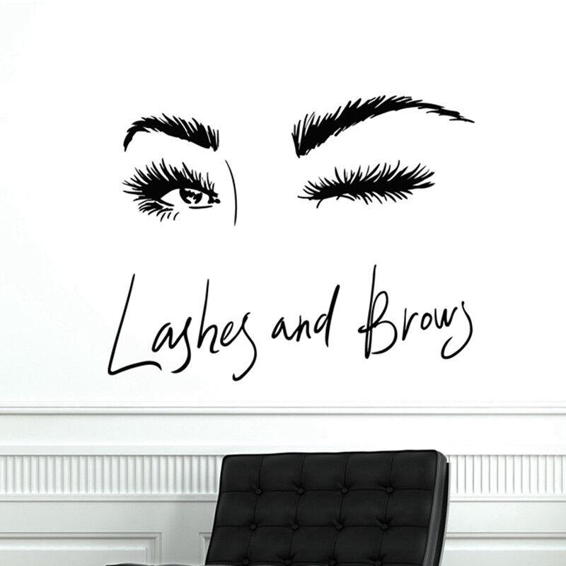Eyelashes Wall Decal Lash Decals Eyebrows Decal Lashes Decal Beauty Salon Decal Customized Decals l05