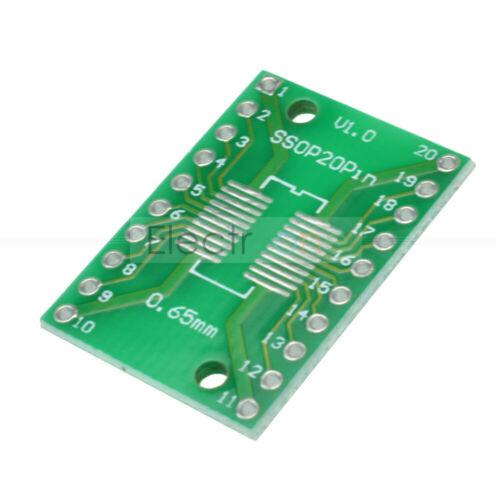 5//10//20//50//100PCS SOP20 SSOP20 TSSOP20 DIP20 PCB SMD DIP//Adapter Plate PCB Board