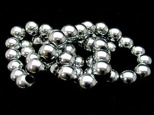 50-x-8mm-Silver-Plated-Hematite-Shamballa-Beads-1-Strand-Gemstone-F48