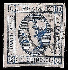 REGNO-1863-15-c-LITOGRAFICO-n-13-VARIETA-039-STAMPA-RARO-CERT-BOTTACCHI