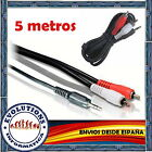 CABLE AUDIO ESTEREO 5M 5 METROS MINI JACK 3.5mm MACHO A 2 x RCA MACHO NUEVO