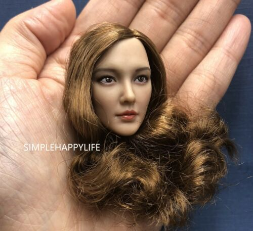 "1//6 Female Head Sculpt C For 12/"" PHICEN Suntan Figure Doll ❶USA❶"