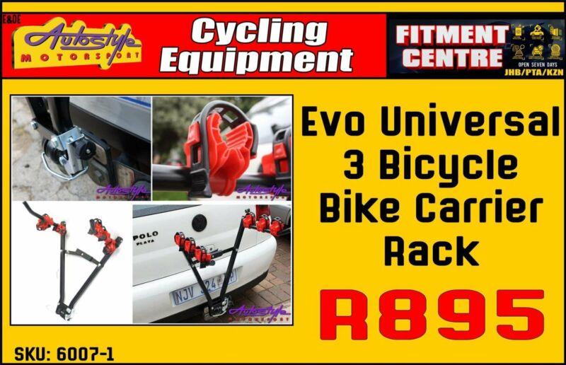 Evo Universal 3 Bicycle Bike Carrier Rack