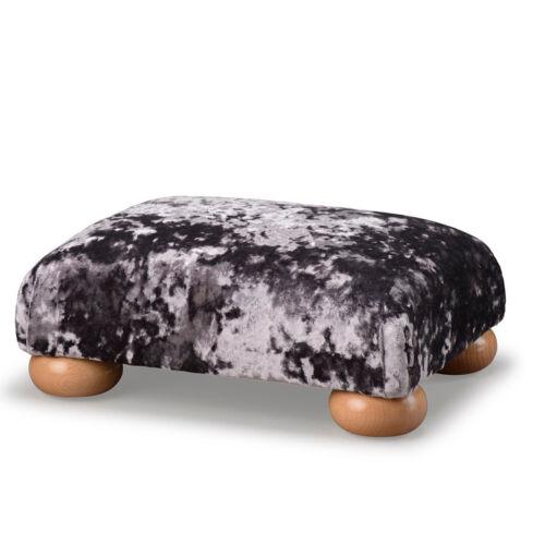 Biagi Upholstery /& Design Lavande Violet Velours Bas Repose-Pieds