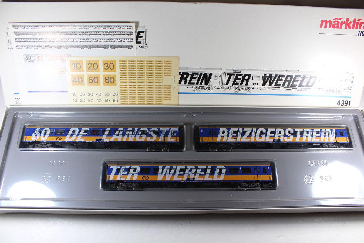 Märklin 4391 Wagen Set 3 Intercity Wagen der NS Top in OVP  | Das hochwertigste Material
