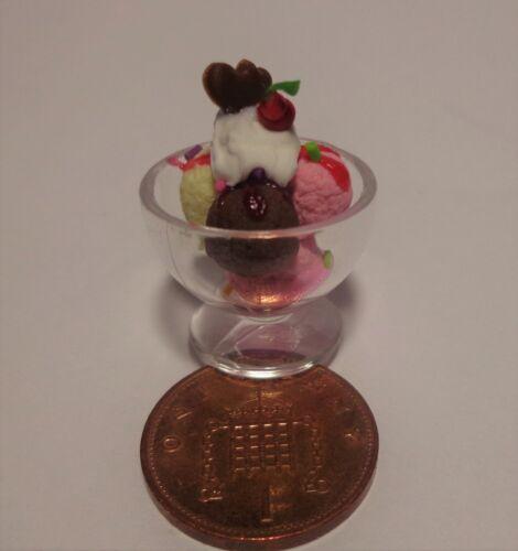 1:12 SCALA Misto Gelato Sundae Doll House Miniature negozio