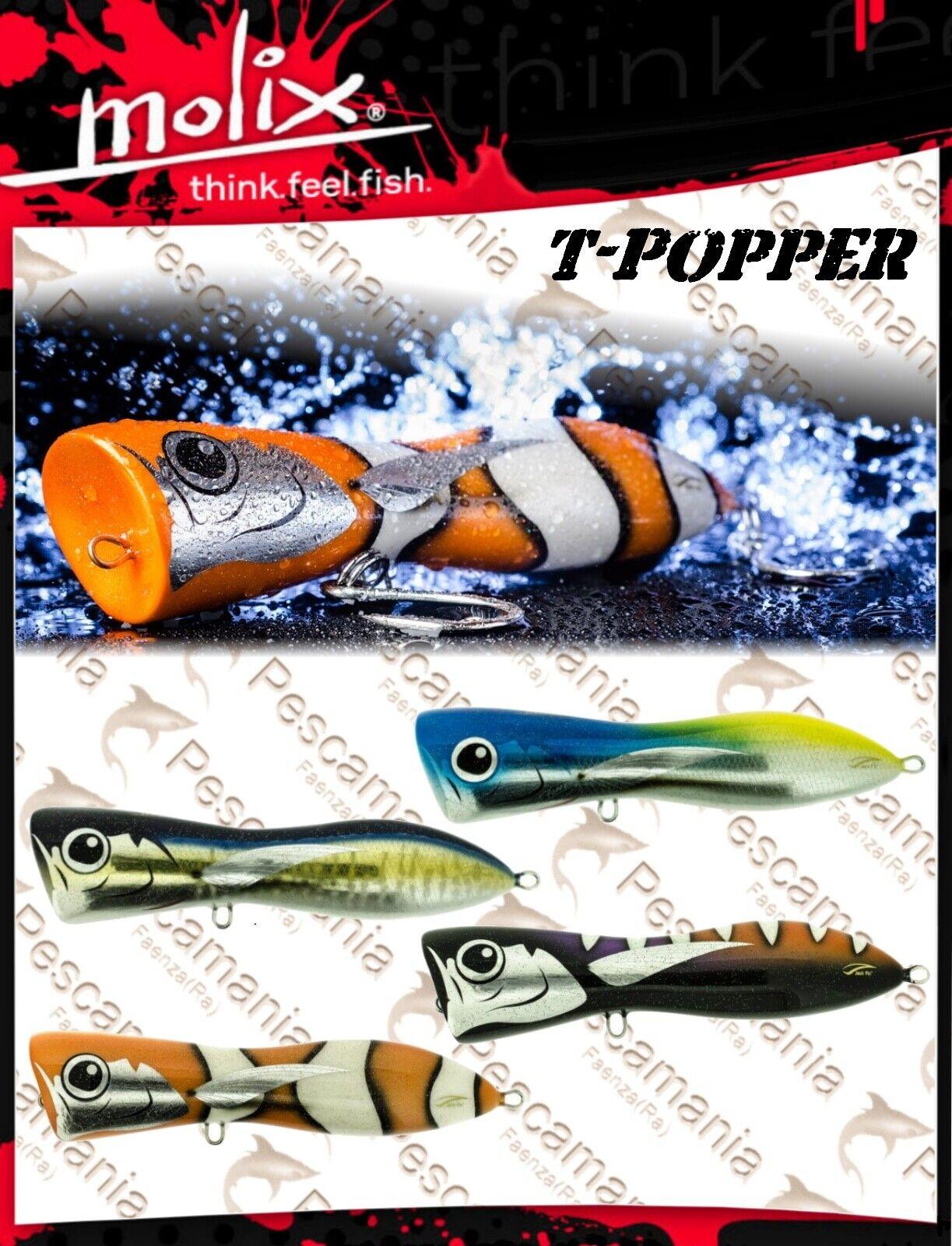 Artificiale spinning hard bait Molix TPopper Topwater 110gr 18cm popper