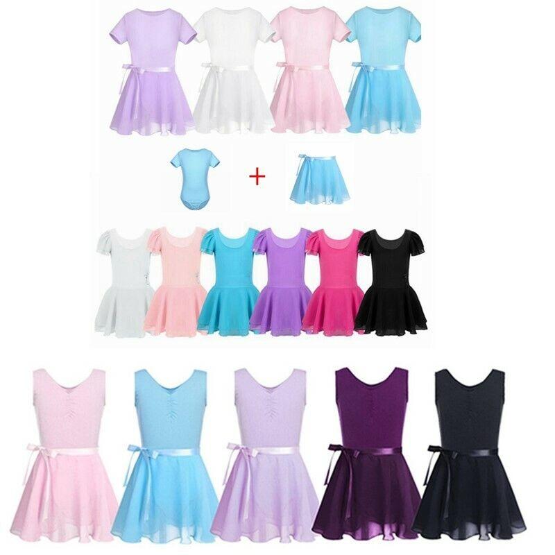Kids Girls Tutu Ballet Dance Dress Gymnastics Leotard Skirts Fancy Dancewear
