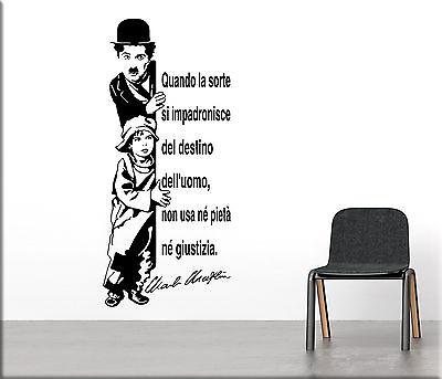 Adesivi Murali Frase Charlie Chaplin Decorazioni Da Parete Wall
