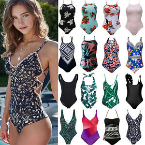 Damen Bikini Bademode Monokini Badeanzug Einteiler Schwimmanzug Strandkleidung