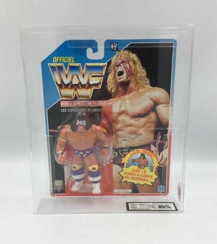 WWF WWF WWF HASBRO Ultimate Warrior, pantaloni viola, 1991-cifra in massa UKG non AFA 83c702