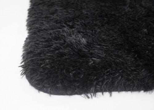 Shaggy Tapis Langflor Produit B Tapis mcw-f69 tissu 160x120cm Noir