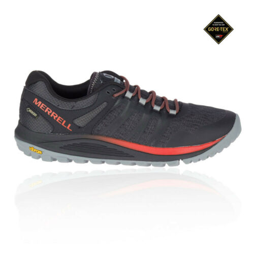 Merrell Mens Nova GORE-TEX Walking Shoes Black Orange Sports Running Waterproof