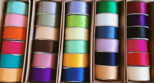 Double Faced Satin Ribbon Ultra Low Price 10 Yards Multiple Color /& Size DIY