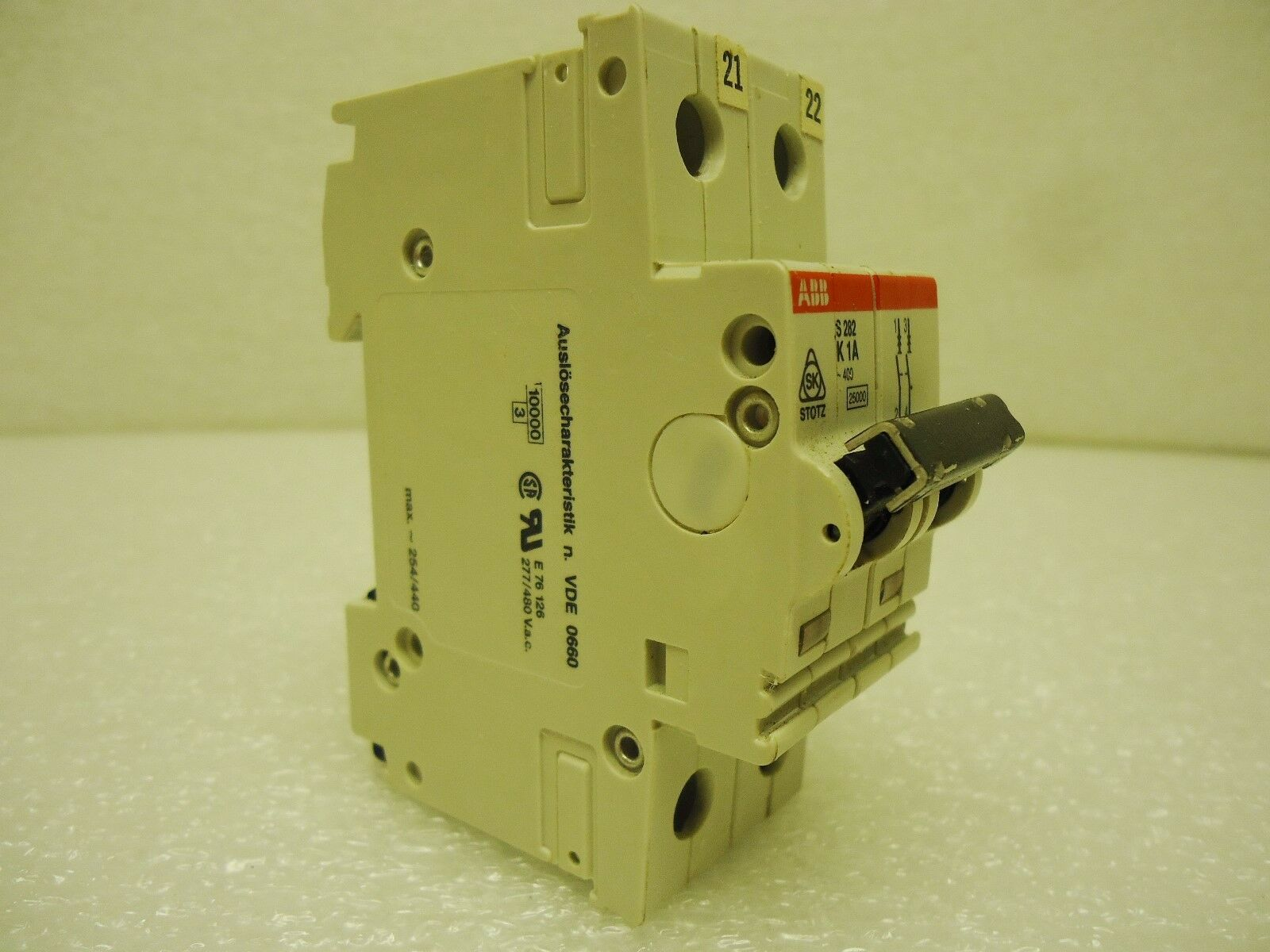 Abb S 282 K1a 2 Pole 1 Amp 277 480 Vac Circuit Breaker Ebay Ge Qline 20 21 4 In Double Gfci Norton Secured Powered By Verisign