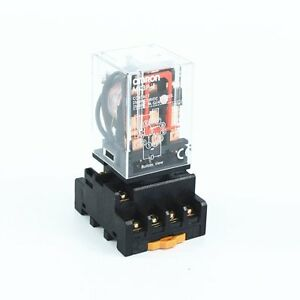 MK3P-I AC 110V Coil 11 Pins Power Relay With PF113A Socket Base