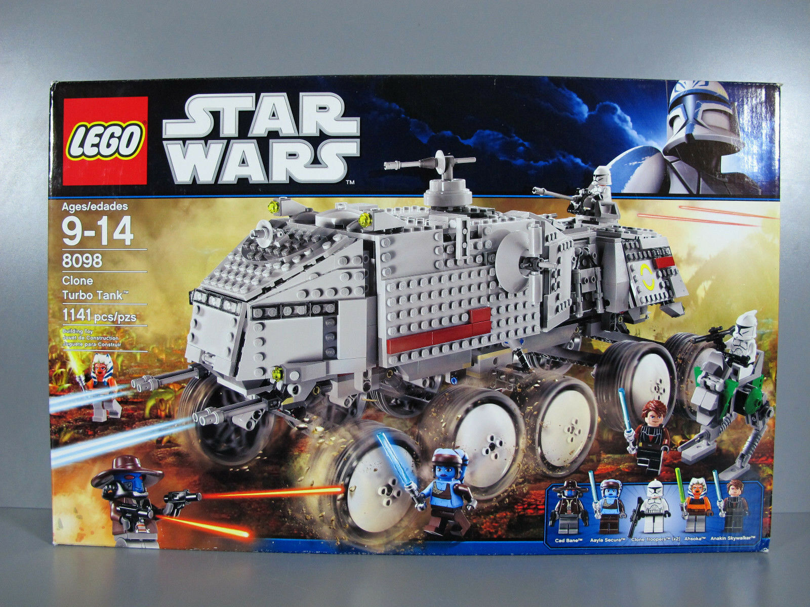 New Factory Sealed Star Wars The Clone Wars Wars Wars 2011 Lego 8098 Clone Turbo Tank 804e01