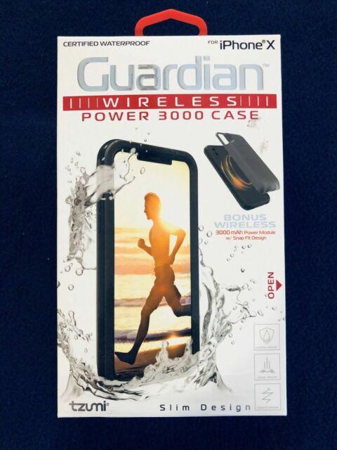 newest 0ace8 fef33 Tzumi Guardian Wireless Power 3000 Case Slim Design for iPhone X 5347 B