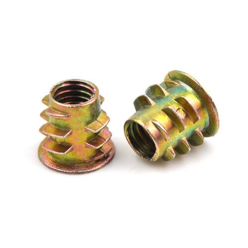 10Pcs Metal Hex Drive Head Screw Insert Nut Threaded For Wood M4-M10 Hi KWCA