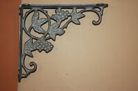 (2)pcs, Winery Decor, Grapevine Design Cast Iron Shelf Brackets,9, B-12