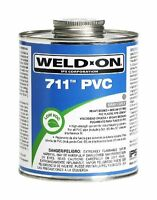 Weld-on 10121 Pint 711 Heavy Duty Pvc Cement, Gray, 1-pack, New, Free Shipping