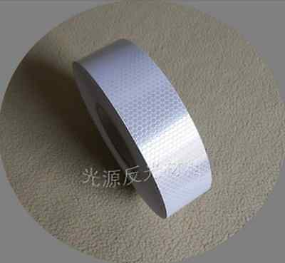 """Silver White Reflective Safety Warning Conspicuity Tape Film Sticker 2""""X1m #B181"""
