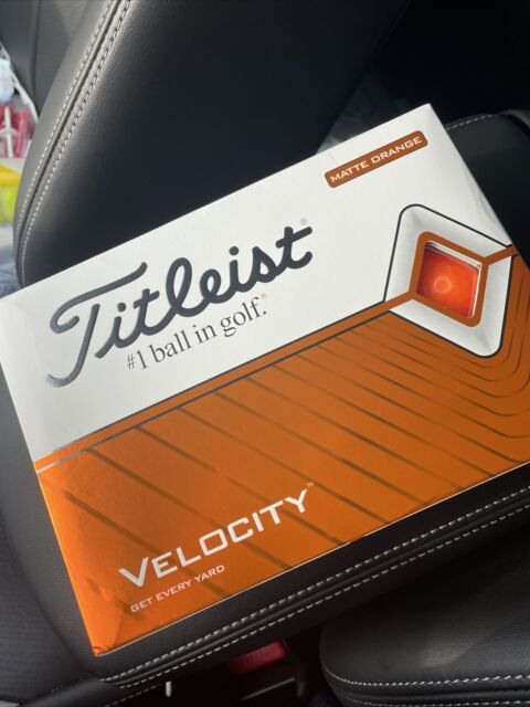 Titleist - Velocity - Matte Orange Balls - new 12 balls