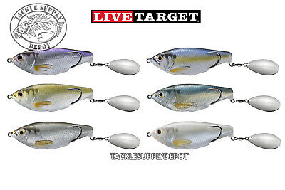 Live Target SCH90T Hollow Body SHAD commotion 3//4oz