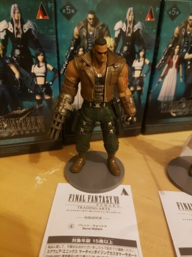 Brand New Final Fantasy VII Remake FF7 5 Figures Complete Set Trading Arts Boxed