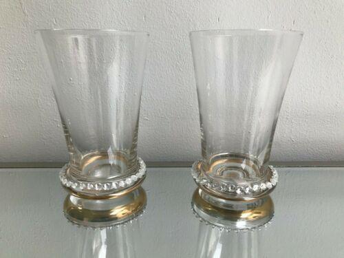 Pair Tumbler Glasses Diamante Clear 13cm Tall Gift Drinking 440cl Wedding