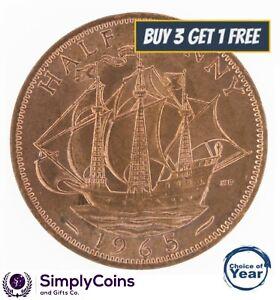 1953 To 1967 Elizabeth II-Bronze Demi Penny Choix de l'année/date