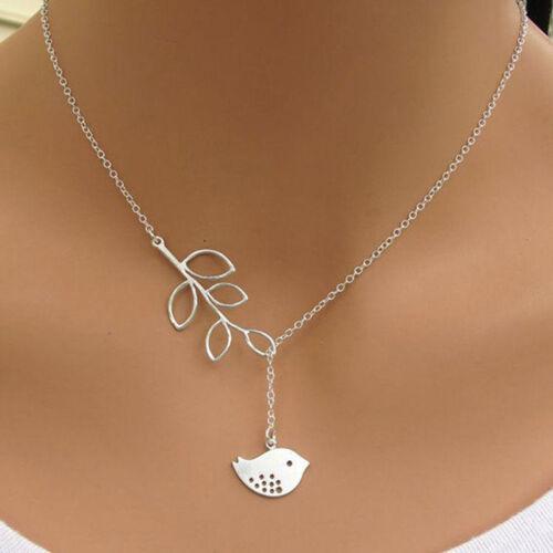Infinite Leaf Cross Birds Dainty Y Drop Down Elegant Necklace Anniversary one