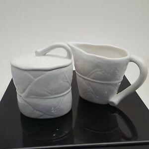 Michael-Aram-White-Porcelain-Forest-Leaf-Collection-Sugar-and-Creamer-Set