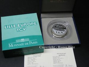 Tgv-Lille-Europe-2010-Silver-Pp-5-OZ-Only-268-Minted-Real-Edition