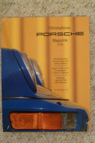 Awesome L@@K Porsche Christophorus Magazine English #238 October 1992 RARE!