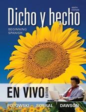 Dicho y Hecho, Binder Ready Version: Beginning Spanish - En Vivo Edition by Kim