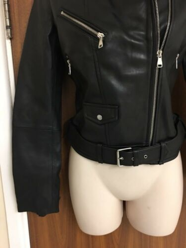 Jacket Leather Zara Xsmall Size Real Motorcycle wOvOxtY8