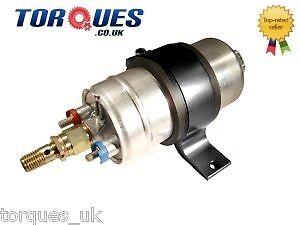 Bosch-0580-254-044-External-Fuel-Pump-With-Billet-Cradle-Mount-In-BLACK