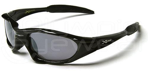 XL Biker Shades Black Frame Smoke Lens