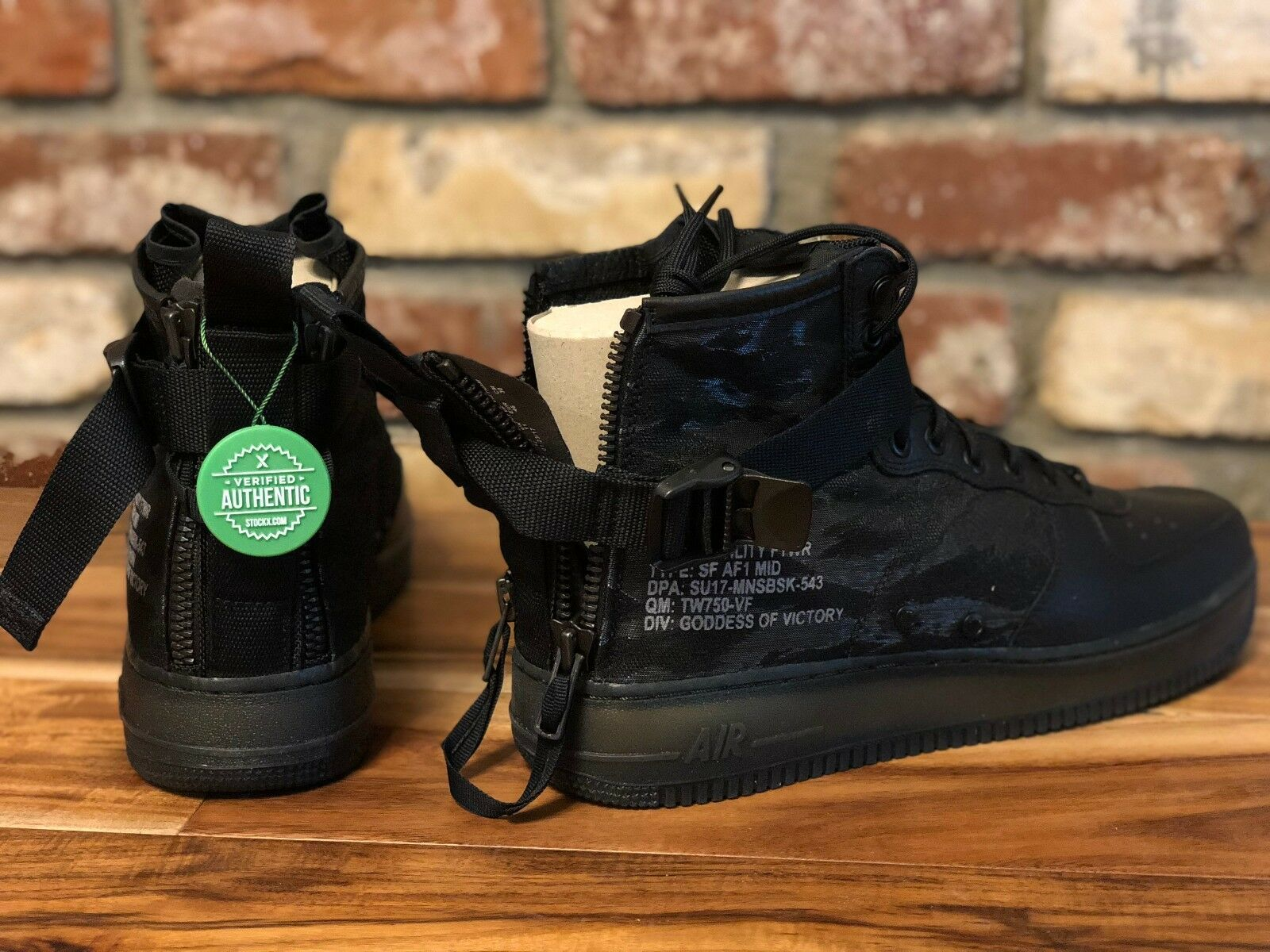 Nike sf air force 1 metà un carico nero (di cachi taglia 12 uomini e 'il sergente (di nero nuovo in scatola) b76098