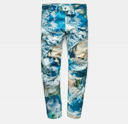G-Star Elwood X52 5622 3D Tapered Canvas Earth Camouflage Print Jeans Pharrell